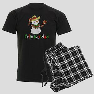 Feliz Navidad Snowman Men's Dark Pajamas