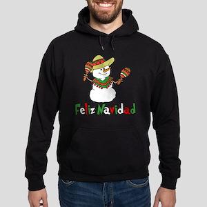 Feliz Navidad Snowman Hoodie (dark)
