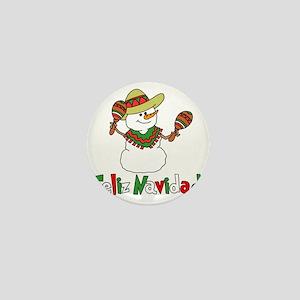 Feliz Navidad Snowman Mini Button