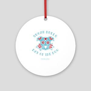 Sugar Bulls Round Ornament