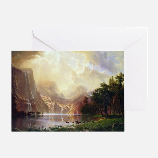 Albert Bierstadt Sierra Nevada Greeting Card