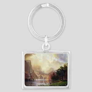 Albert Bierstadt Sierra Nevada Landscape Keychain