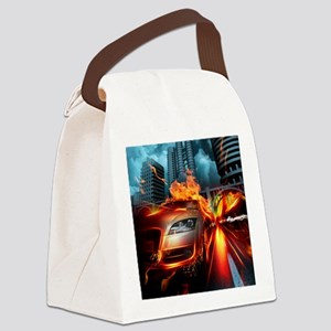 Night Rider Canvas Lunch Bag