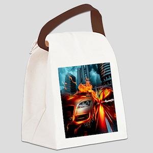 Night Rider Canvas Lunch Bag