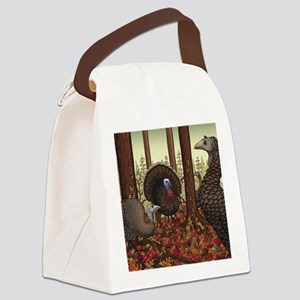 Wild Turkeys Canvas Lunch Bag