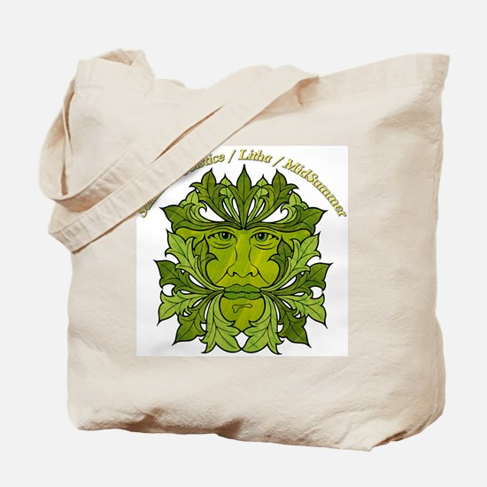 The Greenman of the Summer Solstice Tote Bag