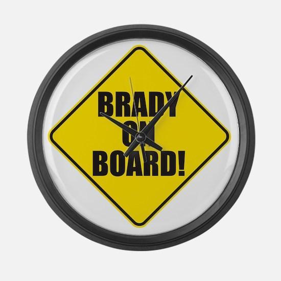 Brady On Board Large Wall Clock