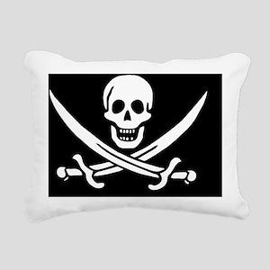 Calico Jacks Pirate Flag Rectangular Canvas Pillow