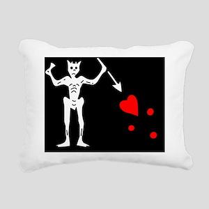 Blackbeard Pirate Flage  Rectangular Canvas Pillow