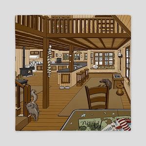 Winter Cabin Queen Duvet