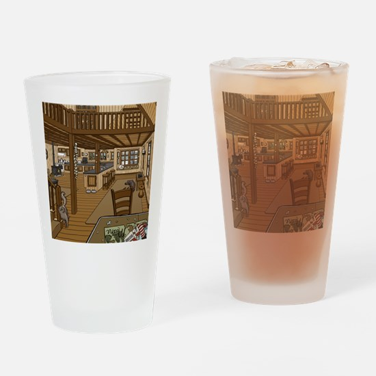 Winter Cabin Drinking Glass