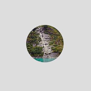 Glacier Waterfall Mini Button