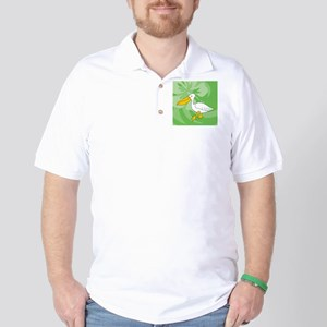 Pelican Round Ornament Golf Shirt