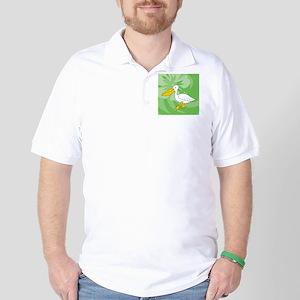 Pelican Round Ornament Golf Shirt