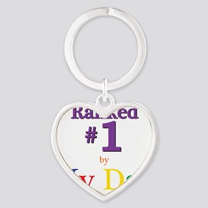 Ranked #1 by My Dad (SEO) Heart Keychain