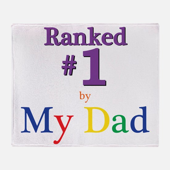 Ranked #1 by My Dad (SEO) Throw Blanket