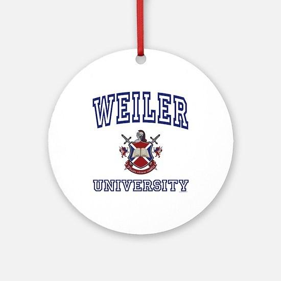 WEILER University Ornament (Round)