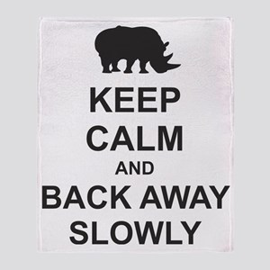 Keep Calm and Back Away Slowly Throw Blanket