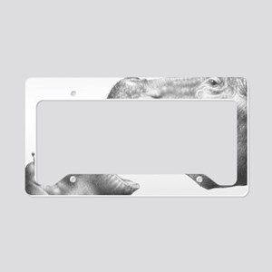 Hippo and Baby Serving Tray License Plate Holder