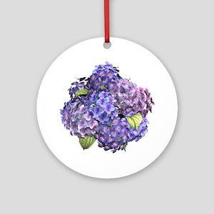 Hydrangea Round Ornament