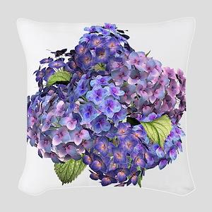 Hydrangea Woven Throw Pillow