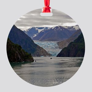 Tracy Arm Glacier Round Ornament