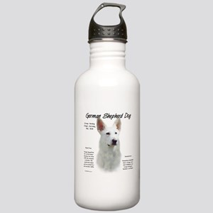 White GSD Stainless Water Bottle 1.0L