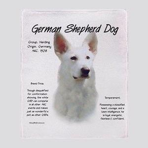 White GSD Throw Blanket