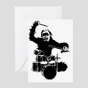 Drumming Gorilla Greeting Card