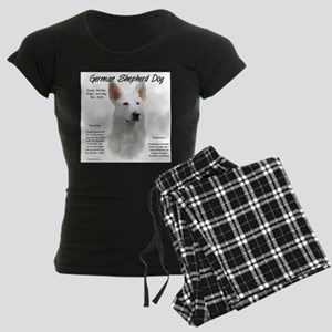 White GSD Women's Dark Pajamas