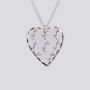 Feynman diagrams for Compton  Necklace Heart Charm
