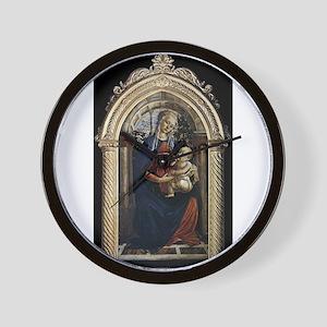Madonna of the Rosegarden - Botticelli Wall Clock