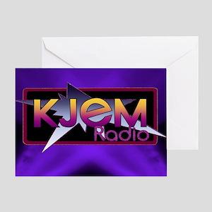 T-shirt KJEM Radio Logo Purple Spotl Greeting Card