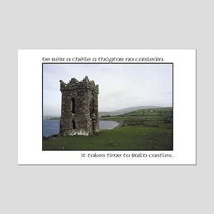Takes Time to Build a Castle. Mini Poster Print