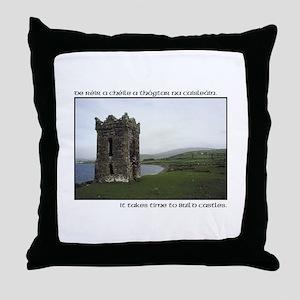Takes Time to Build a Castle. Throw Pillow