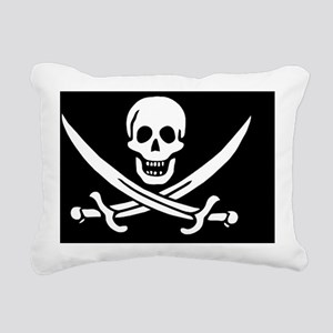 Calico Jacks Pirate Flag Rectangular Canvas Pillow