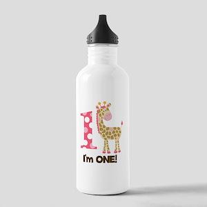 Im one Pink Giraffe Stainless Water Bottle 1.0L