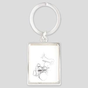 White Gorilla Portrait Keychain