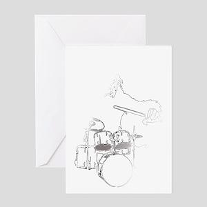 White Gorilla Greeting Card