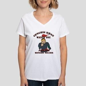 Genghis Khan Wants You (Women's V-Neck T-Shirt)