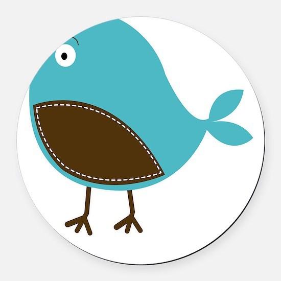 Blue Bird Round Car Magnet