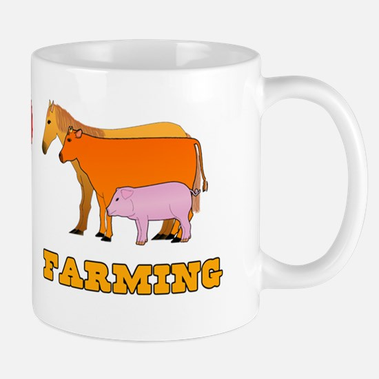 Peace Love Farming Mug