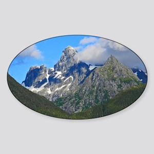 Mountain Peak Sticker (Oval)