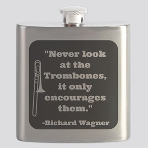 Trombone Wagner quote Flask