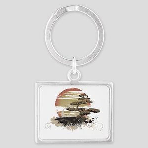 Bonsai Landscape Keychain