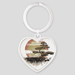 Bonsai Heart Keychain