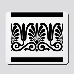 Black and White Floral Design Mousepad