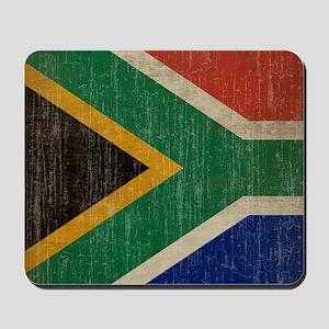 Vintage South Africa Flag Mousepad