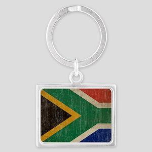 Vintage South Africa Flag Landscape Keychain
