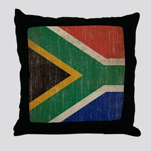 Vintage South Africa Flag Throw Pillow